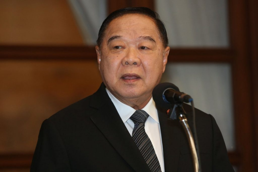 Prawit denies any health problems | News by The Thaiger