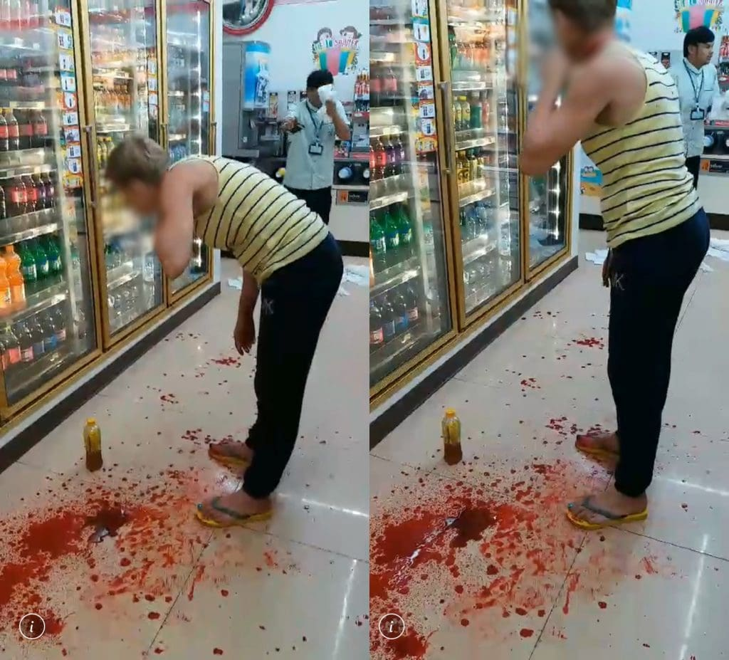 Russian woman slashes her throat in Patong convenience store | News by Thaiger