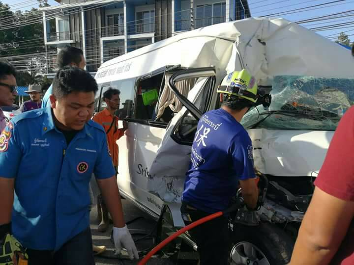 Van crashes with ice truck in Krabi   News by Thaiger