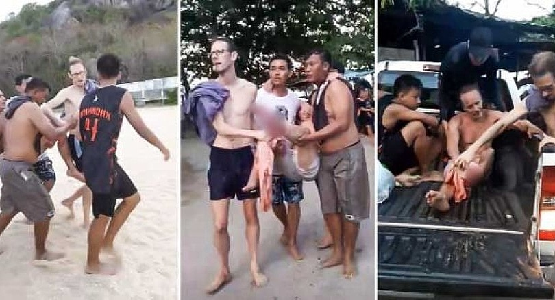 Shark bite or sharp rocks? Hua Hin swimmer dragged from water with injuries | The Thaiger