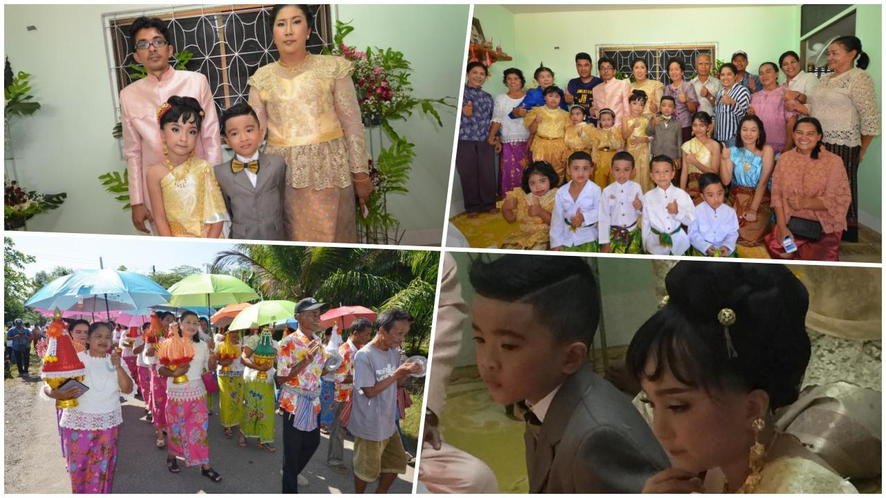 Seven year old Trang Twins marry in a big ceremony | The Thaiger