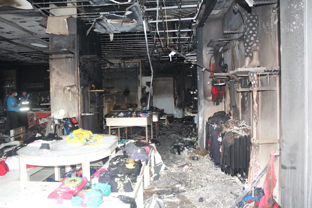 UPDATE: Fire at Hollywood Studio Store clothes shop in Phuket Town   News by Thaiger