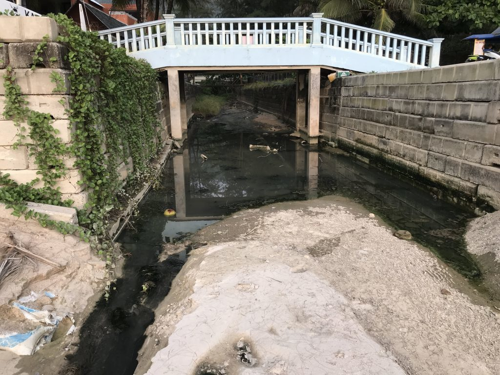 Black water flowing freely onto Kamala beach   News by The Thaiger