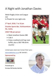 Jonathan Davies in Phuket for Charity | News by Thaiger