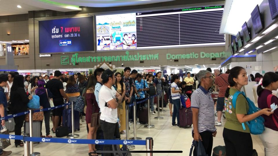 National airports coping with the inbound and outbound crowds