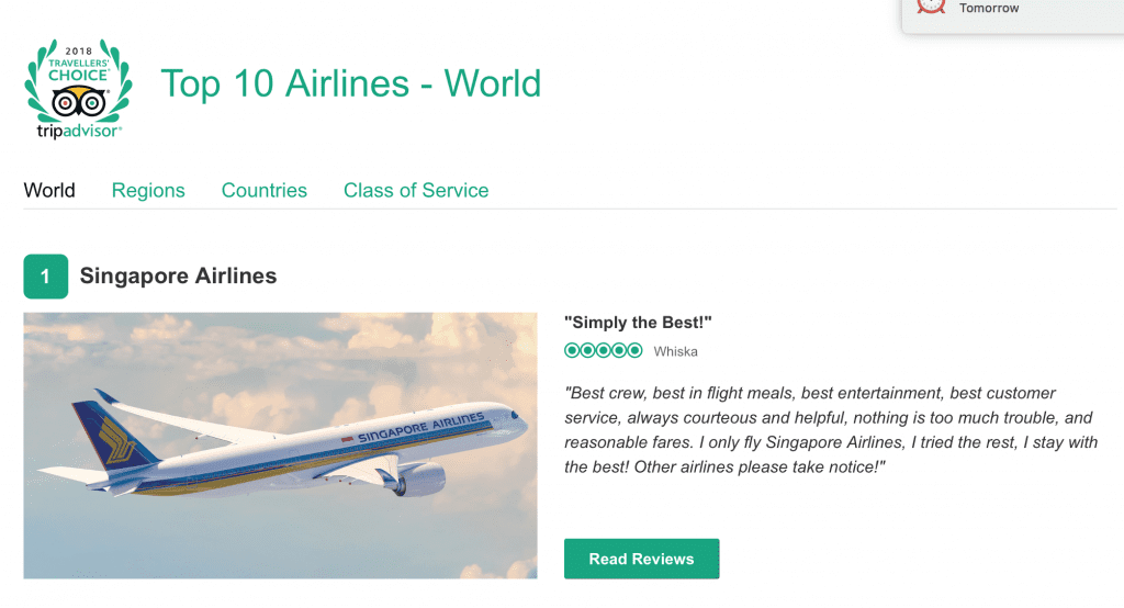 World's best airlines - People's Choice, Trip Advisor   News by Thaiger
