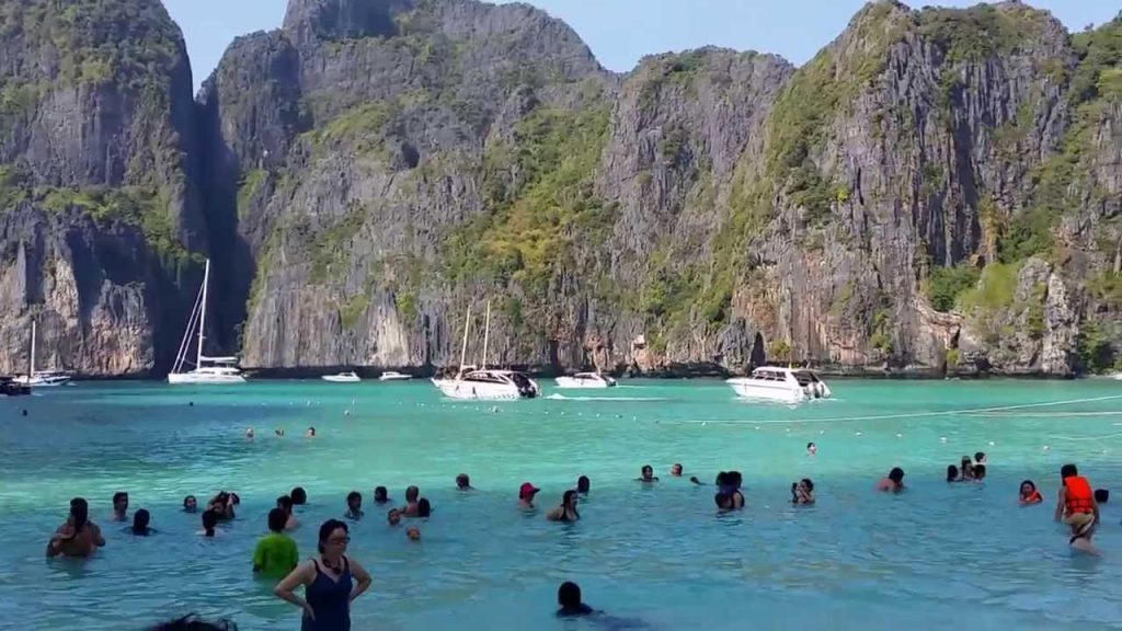 Did 'The Beach' vandalise the beach at Maya Bay?   News by The Thaiger