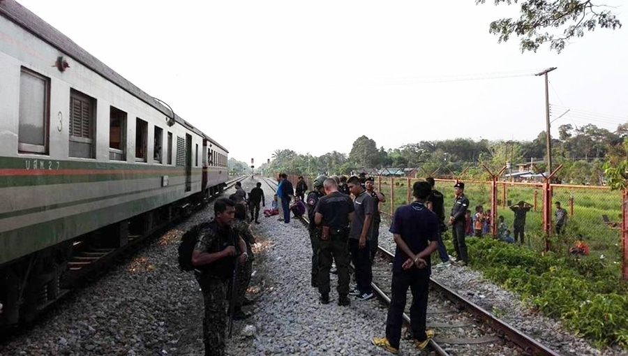 Border-bound train shot at by suspected militants   News by Thaiger