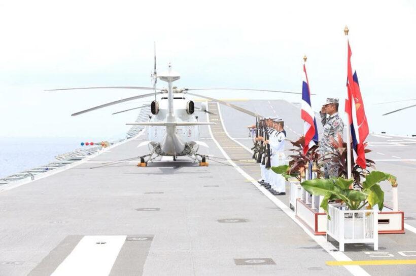 ผู้บัญชาการทหารเรือ ตรวจเยี่ยมการฝึกภาคทะเล ในการฝึกกองทัพเรือ ประจำปี 2561 | News by The Thaiger