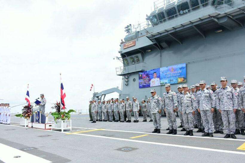 ผู้บัญชาการทหารเรือ ตรวจเยี่ยมการฝึกภาคทะเล ในการฝึกกองทัพเรือ ประจำปี 2561 | The Thaiger