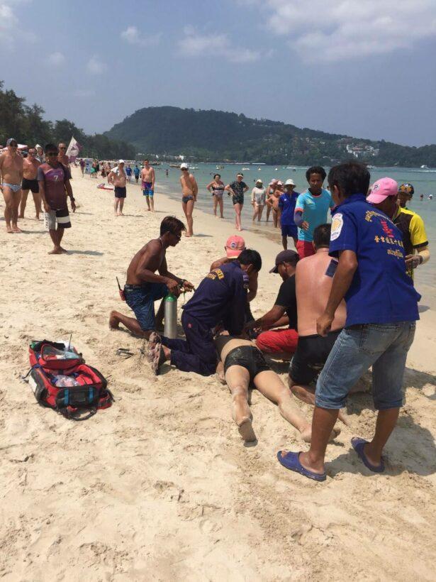 นักท่องเที่ยวชาวจีนจมน้ำเสียชีวิตที่หาดป่าตอง | The Thaiger