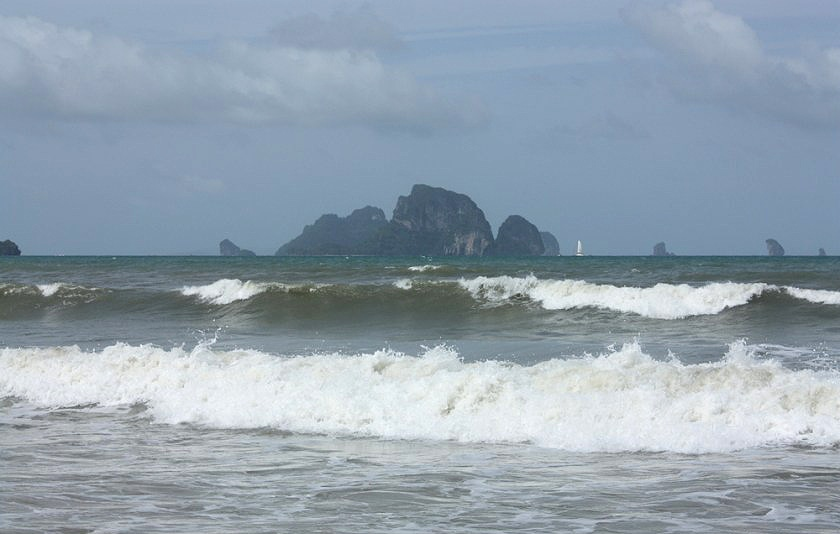Officials raising the yellow flags on Krabi beaches | The Thaiger
