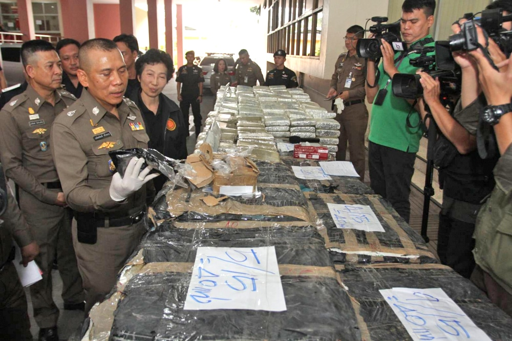 Huge narcotics haul seized from four major drug operations | The Thaiger