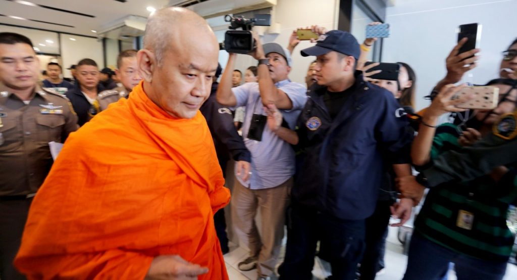 Phra Phromsitti surrenders over alleged embezzlement of temple funds   News by Thaiger