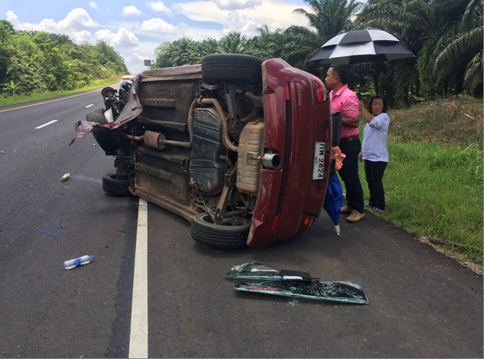 Suspect arrested with over 100,000 meth pills after road accident in Krabi | The Thaiger
