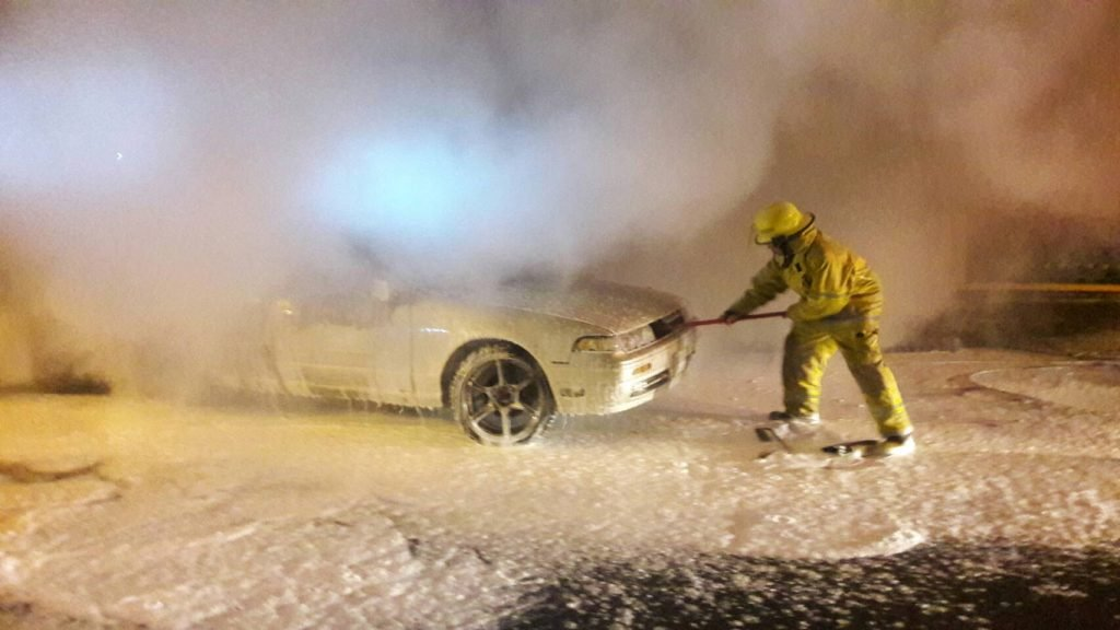 Two vehicles catch fire after collision with power pole | News by Thaiger