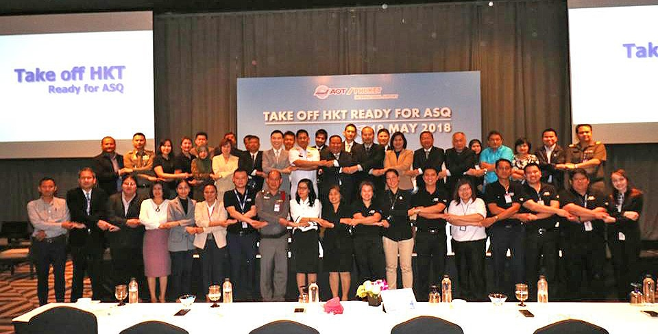 Phuket airport launches 'Take off HKT ready for ASQ' event | News by The Thaiger