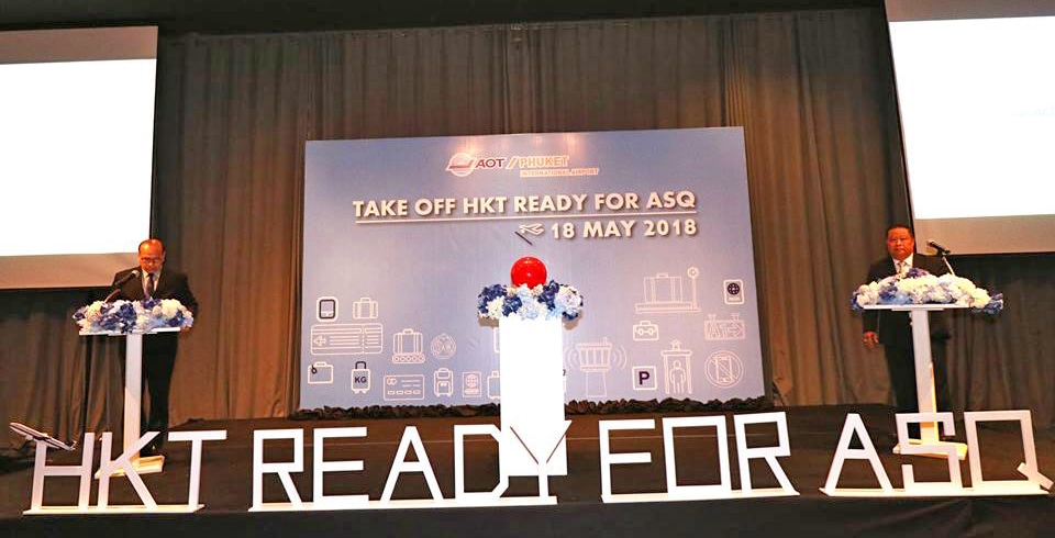 Phuket airport launches 'Take off HKT ready for ASQ' event | News by Thaiger