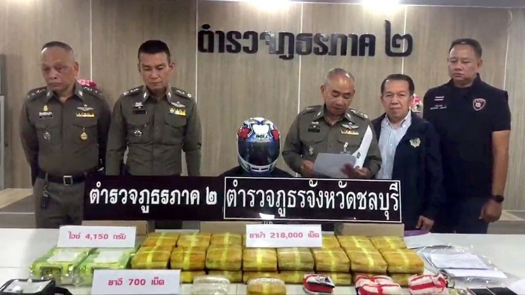 Chonburi sting nets suspects and drugs | News by Thaiger