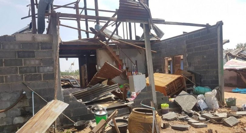 Three houses flattened in Nakhon Ratchasima by storms   News by Thaiger