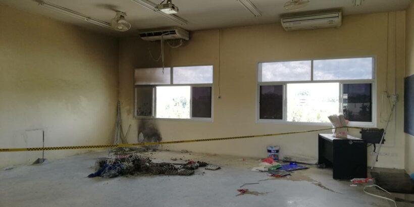 ระทึก!รับเปิดเทอม ไฟไหม้ห้องเรียนโรงเรียน อบจ.กระบี่ ครู นักเรียน ช่วยกันดับได้ทัน | The Thaiger