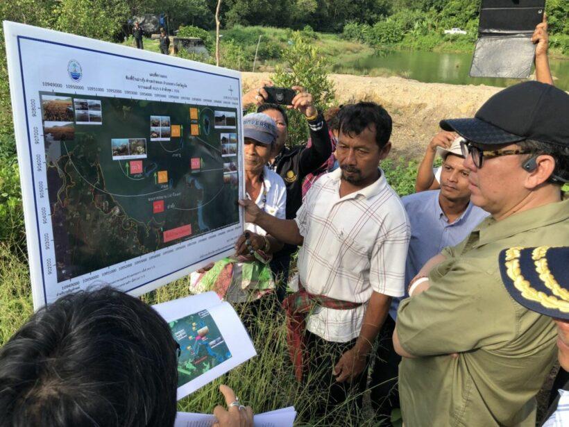 ลงพื้นที่อ่าวกุ้ง ตรวจสอบข้อเท็จจริง ผลกระทบต่อปะการังและป่าชายเลน | The Thaiger