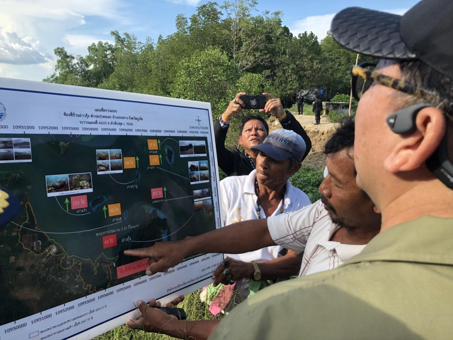 DMCR officials inspect the coral areas in Paklok | The Thaiger