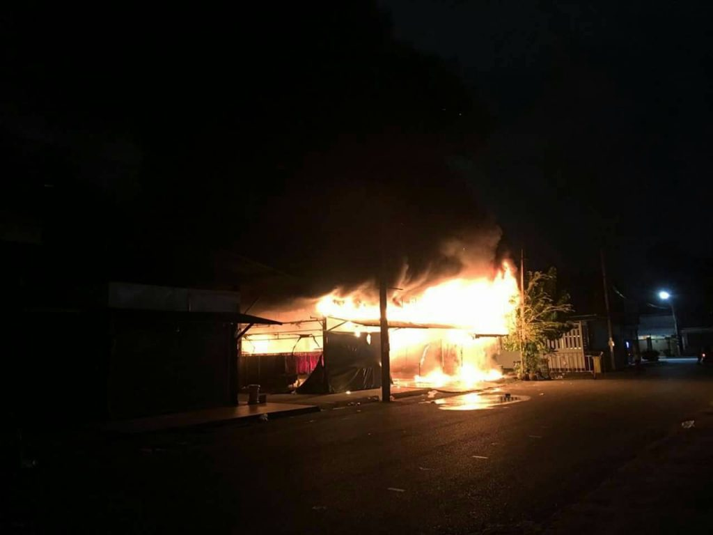 Fire destroys market in Phuket Town | News by Thaiger