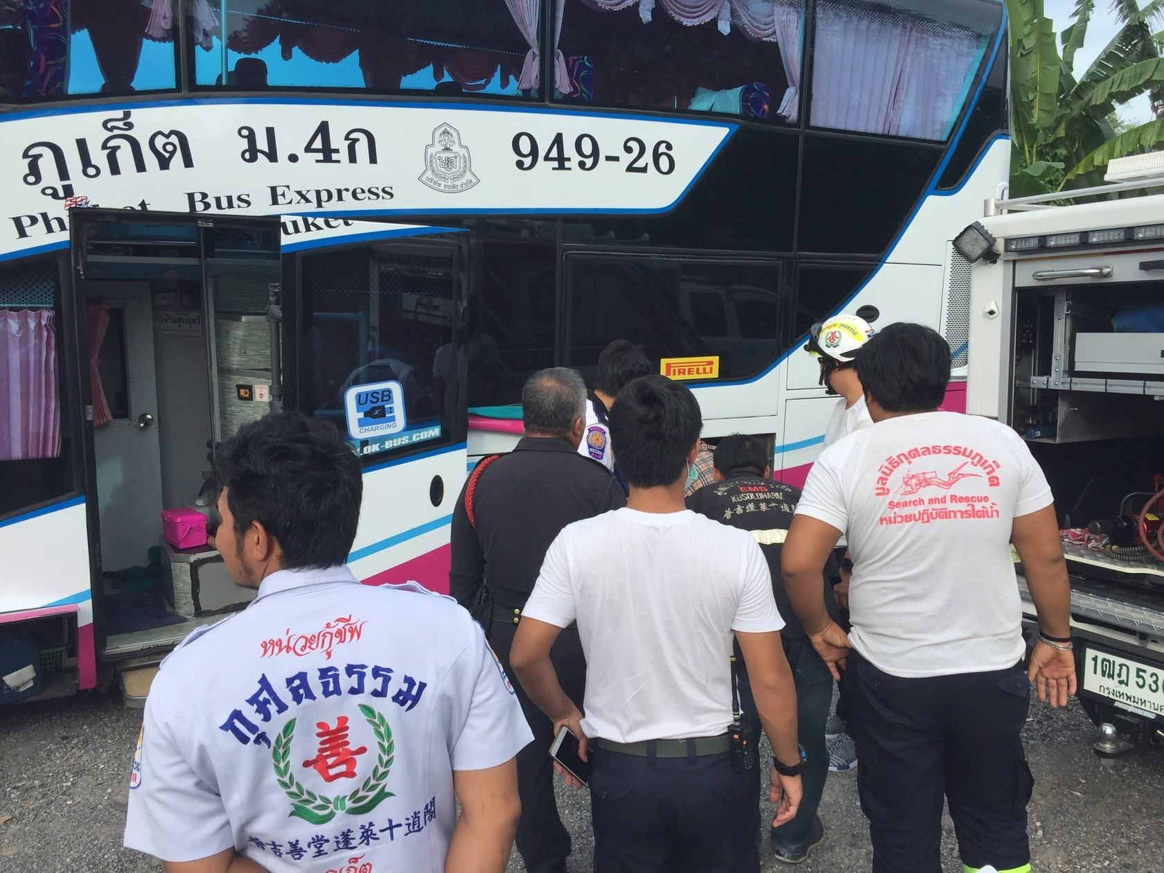 Bus driver dies trying to fix air-brakes in Koh Kaew | The Thaiger