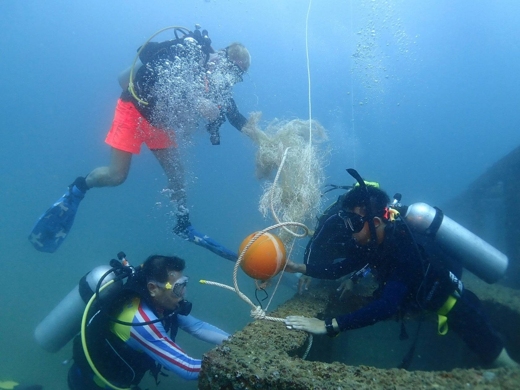 The Andaman's first artificial seaweed installation in Khao Lak | The Thaiger