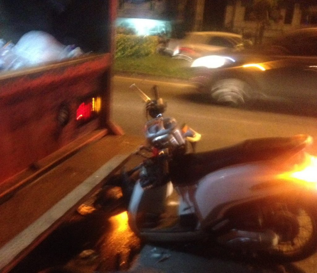 Motorbike driver died after running into garbage truck in Thalang   News by Thaiger