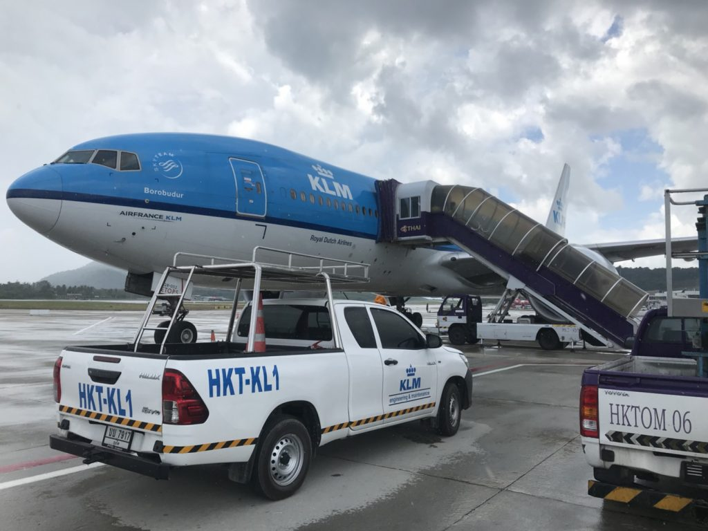 KLM jet continues flight after precautionary landing in Phuket   News by Thaiger