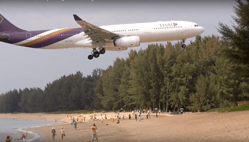 Airport warns of taking photos of landing aircraft at Nai Yang Beach | The Thaiger