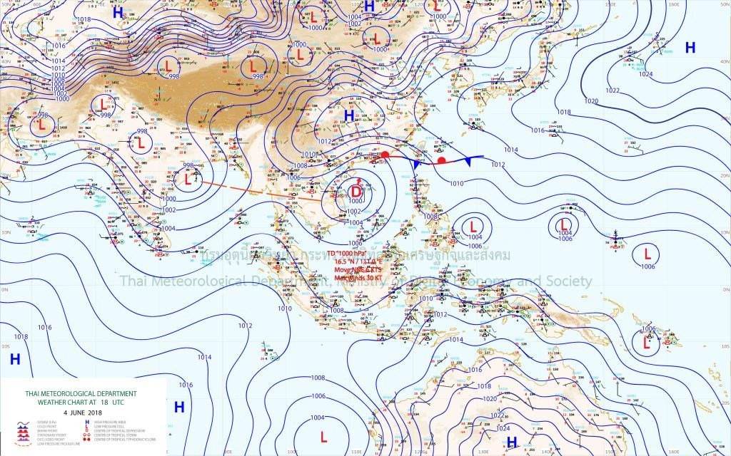 Tropical depression over South China Sea | News by The Thaiger