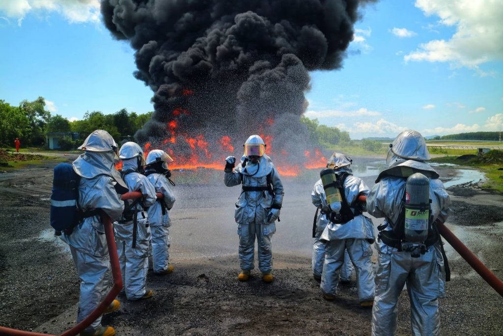 Emergency crews battle airport fire during drill | News by The Thaiger