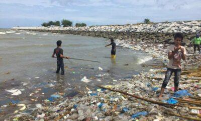 Gulf rubbish washing up on Sattahip beach, Chonburi | The Thaiger