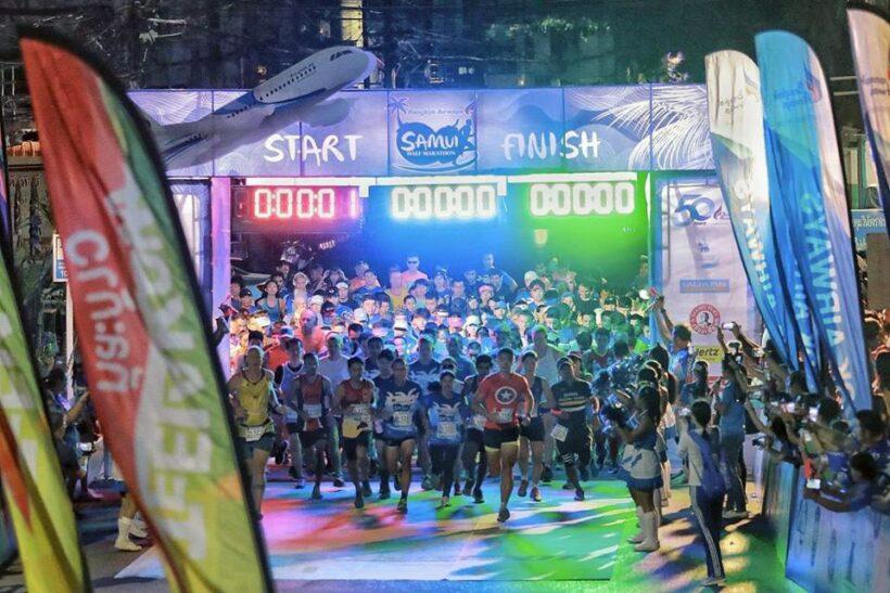 Over thousand front the start line in the Samui Half Marathon | Thaiger
