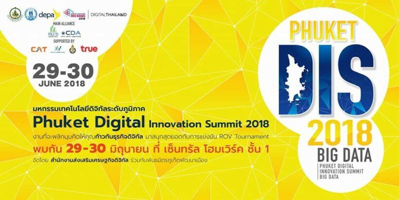 Phuket to hold Digital Innovation Summit 2018: Big Data   News by Thaiger
