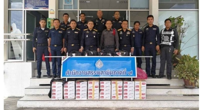 15,000 smuggled cigarette packs seized in Hat Yai | The Thaiger