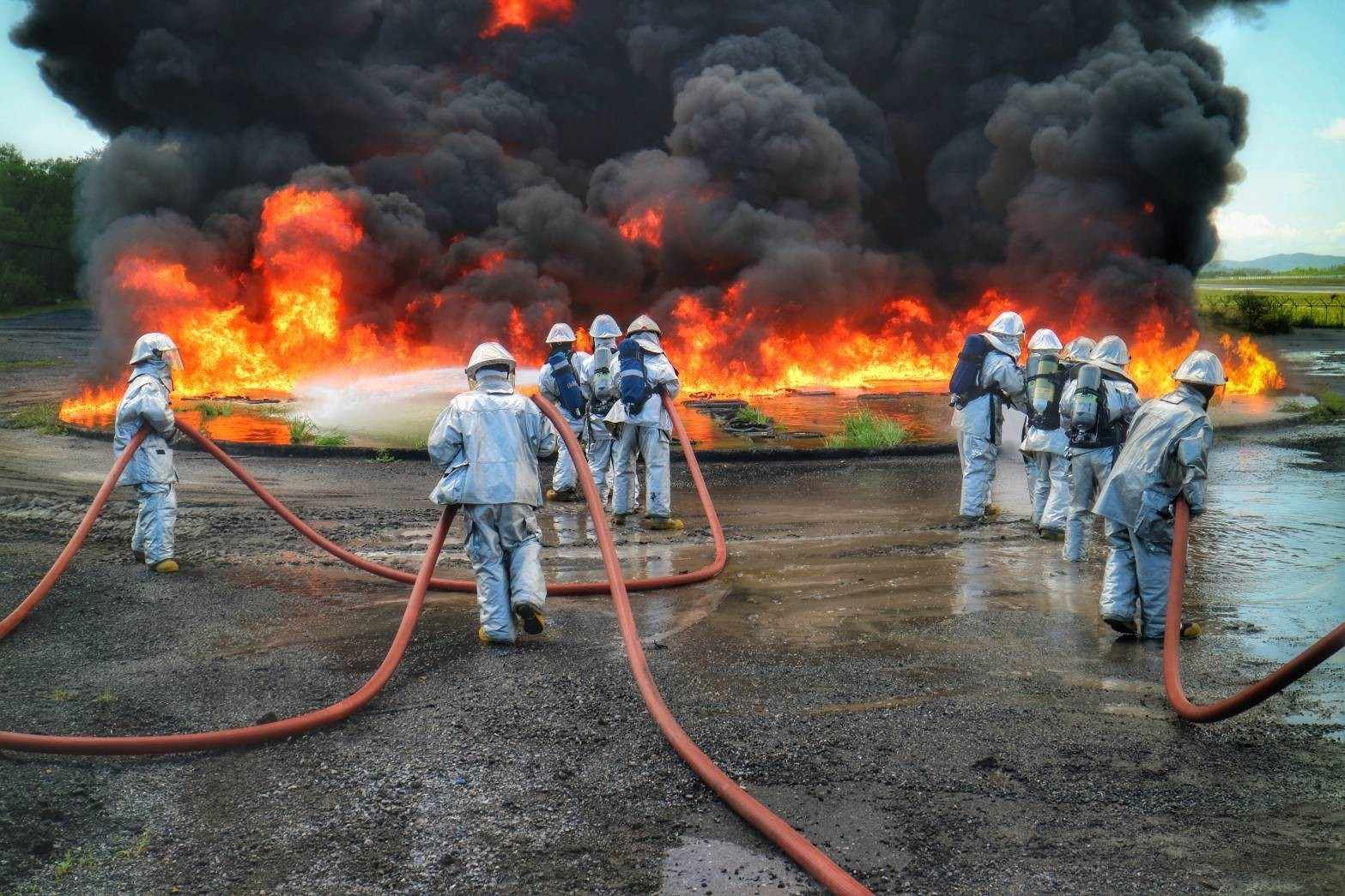 Emergency crews battle airport fire during drill   The Thaiger