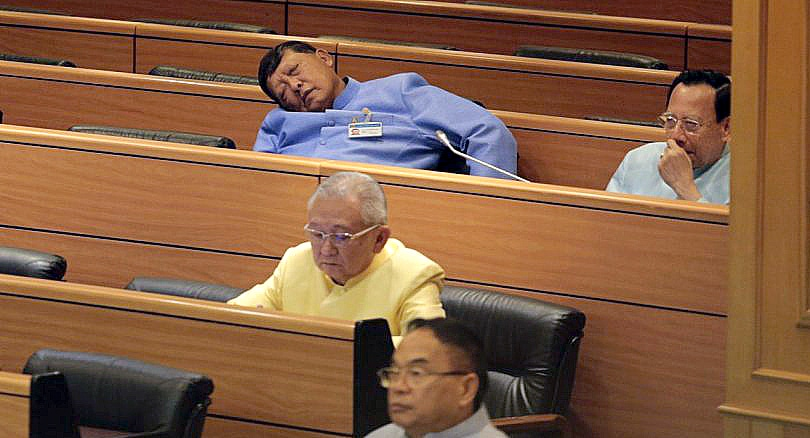 Sleeping on the job - NLA members caught napping | News by Thaiger