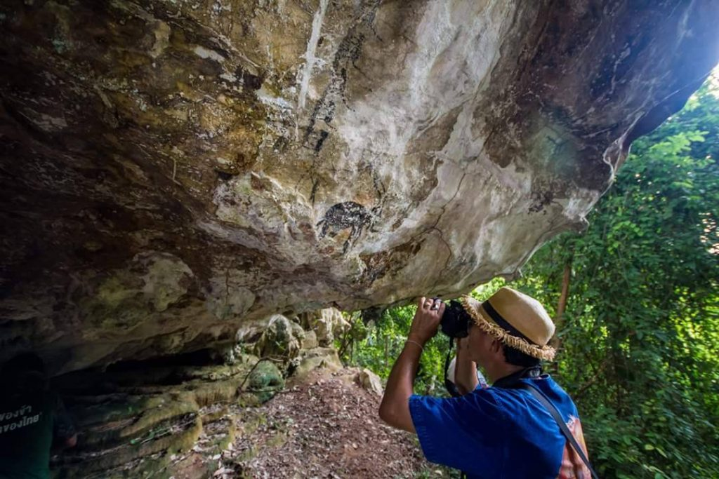 Ancient paintings found in Krabi cave   News by Thaiger