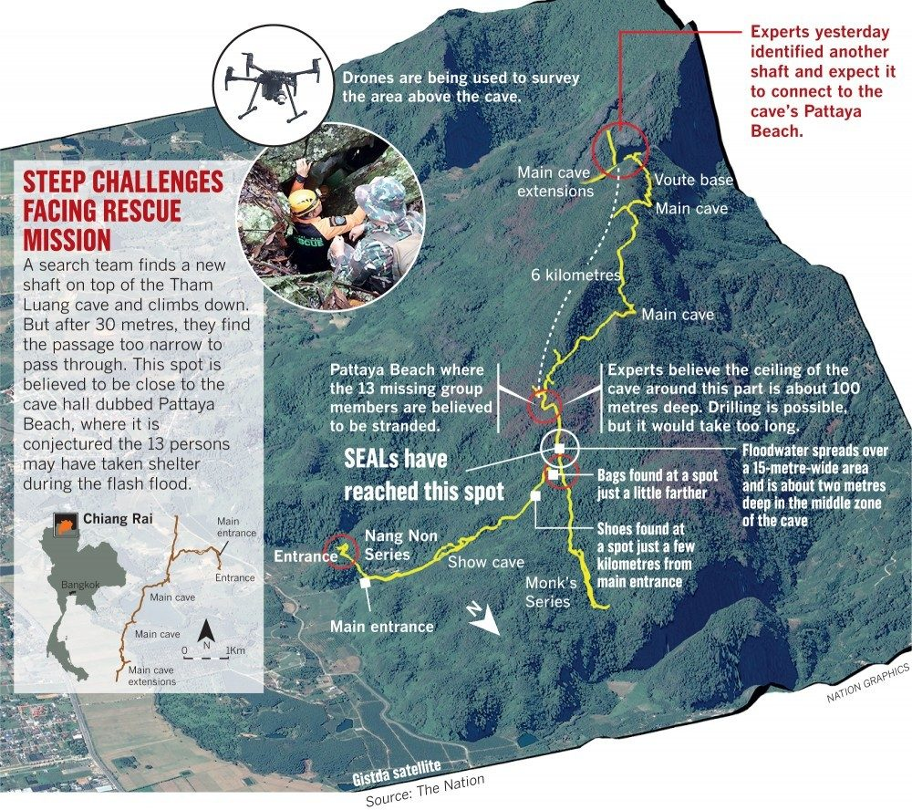 Chiang Rai: UK cave-diving experts get to work. US providing rescue equipment. | News by The Thaiger