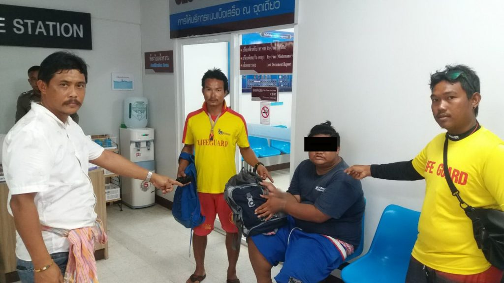 Man caught by Karon lifeguard stealing from tourist | News by The Thaiger