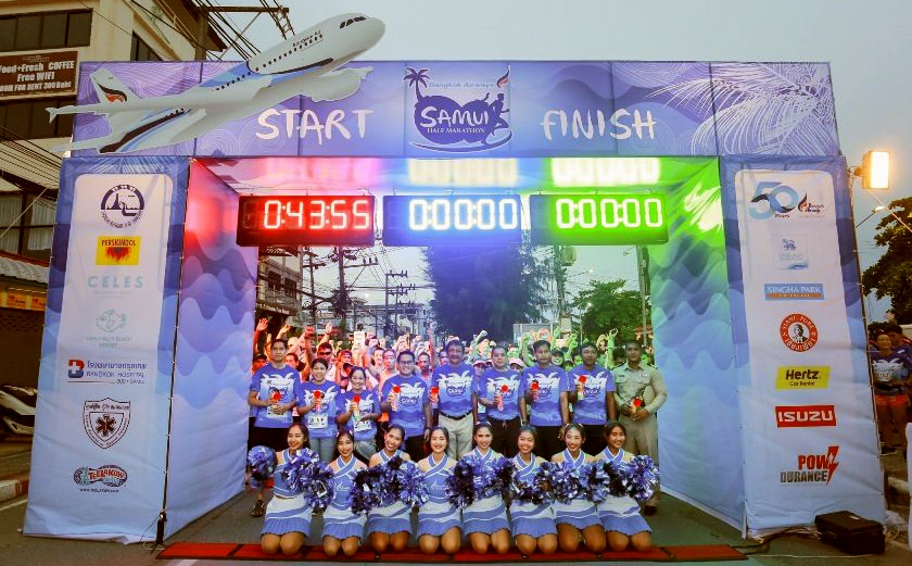 Over thousand front the start line in the Samui Half Marathon | News by Thaiger