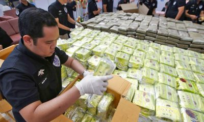Bangkok: 13 billion baht of drugs – up in smoke | The Thaiger