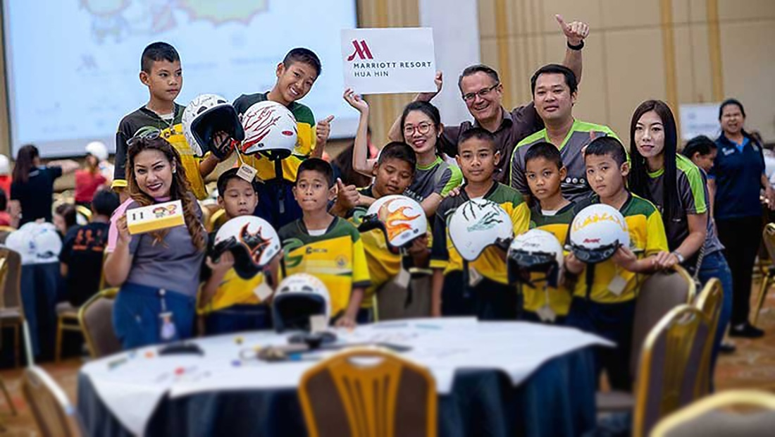 Hua Hin Marriott Resort & Spa donates hundreds of helmets for annual road safety event | The Thaiger