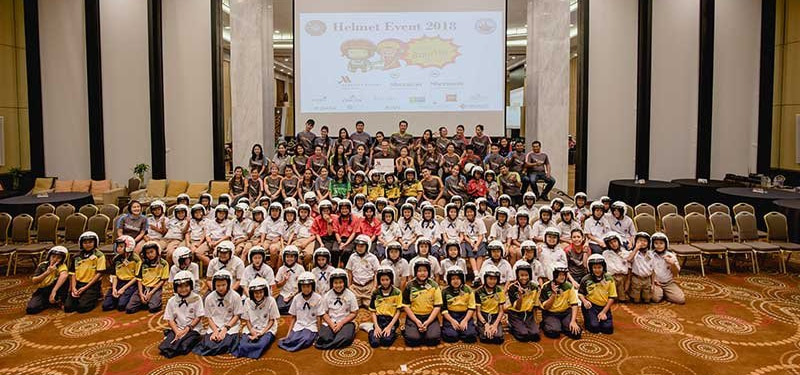 Hua Hin Marriott Resort & Spa donates hundreds of helmets for annual road safety event   News by Thaiger
