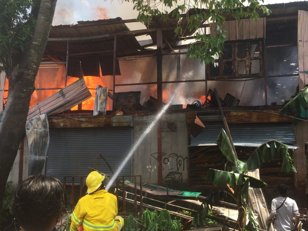 Fire guts furniture warehouse in Wichit   News by Thaiger