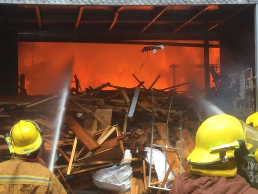 Fire guts furniture warehouse in Wichit | The Thaiger